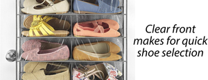 Whitmor Over The Door Shoe Shelves - 26 Sections - Crosshatch Gray