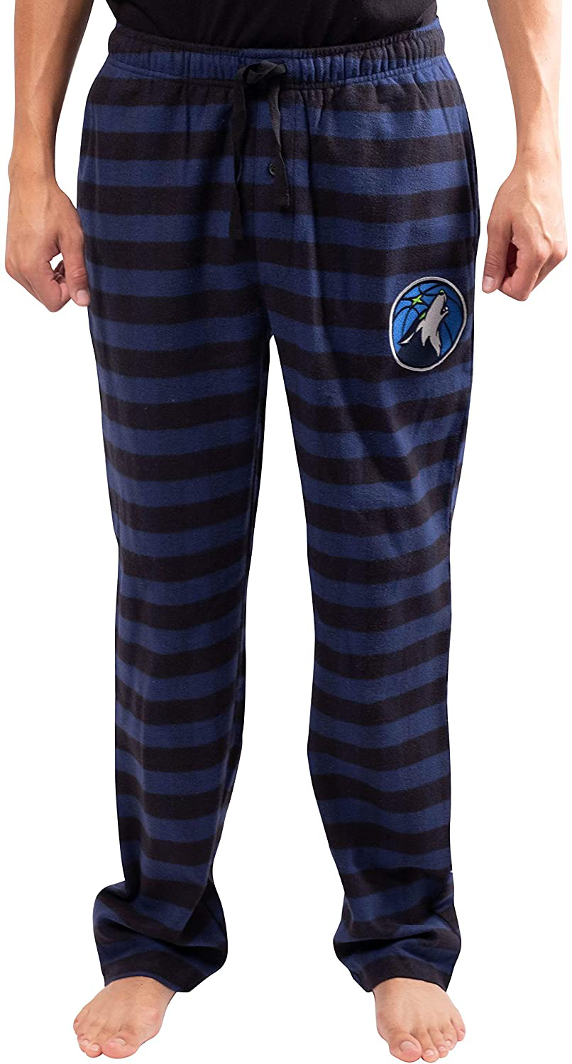 Ultra Game NBA Men's Sleepwear Super Soft Flannel Pajama Loungewear Pants
