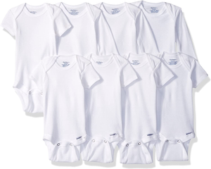 Gerber baby-girls 8-pack Short Sleeve Onesies Bodysuits