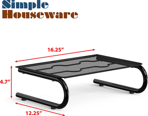 2 Pack - Simple Houseware Mesh Monitor Stand Riser