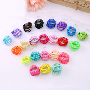 Zcoins Baby Hair Ties for Thin Hair Ponytail Holder for Newborn Girls, Toddler Rubber Bands for Hair Multicolor 100pcs