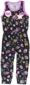 L.O.L. Surprise! Girls Pajama, Union Suit Pajama, Short Sleeve Romper Pajama, 100% Polyester