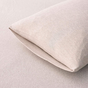 Household 100% Cotton Jersey Knit Fitted Sheet -Light Weight, Super Soft, Extremely Durable 3 Pieces Fitted Sheet Set. (Light Coffee, Queen)