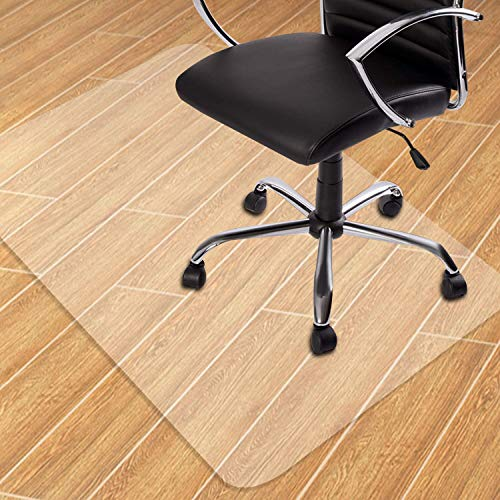 "Seteol Home Office Chair Mat for Hardwood Floor, 30'' x 48'' Clear Floor Mat for Rolling Chairs, Floor Protector Thick Durable Chair Mat Chairmats (30"" X 48"" Rectangle)"