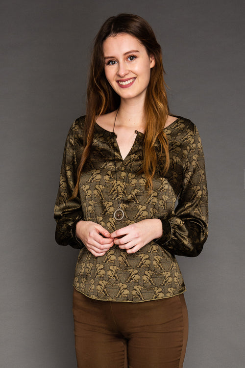 Blouse Romy Silk / Elephant
