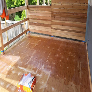 Process of covering your deck