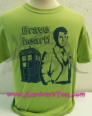 5th Doctor - Peter Davison - Brave Heart - Fans of The Doctor Handprinted Tee - T-shirts - Aardvark Tees