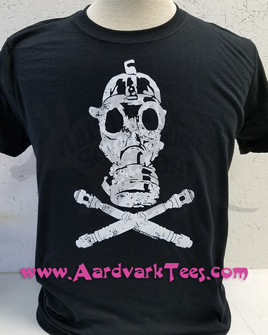 Gas Mask Crossbones - 9th Doctor - Whovian Fan Tee - T-shirts - Aardvark Tees