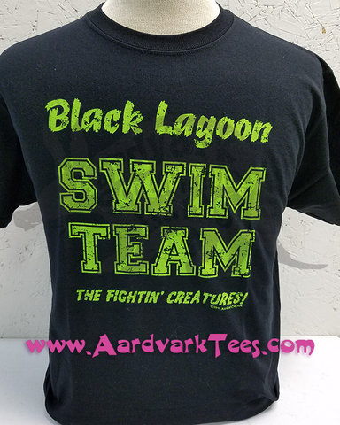 Black Lagoon Swim Team - T-shirts - Aardvark Tees