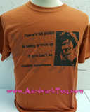Childish - Tom Baker Quote - Whovian, Fans of The Doctor Handprinted Tee