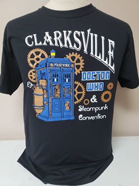 Clarksville Doctor Who & Steampunk Convention - Official T-Shirt - Aardvark Tees