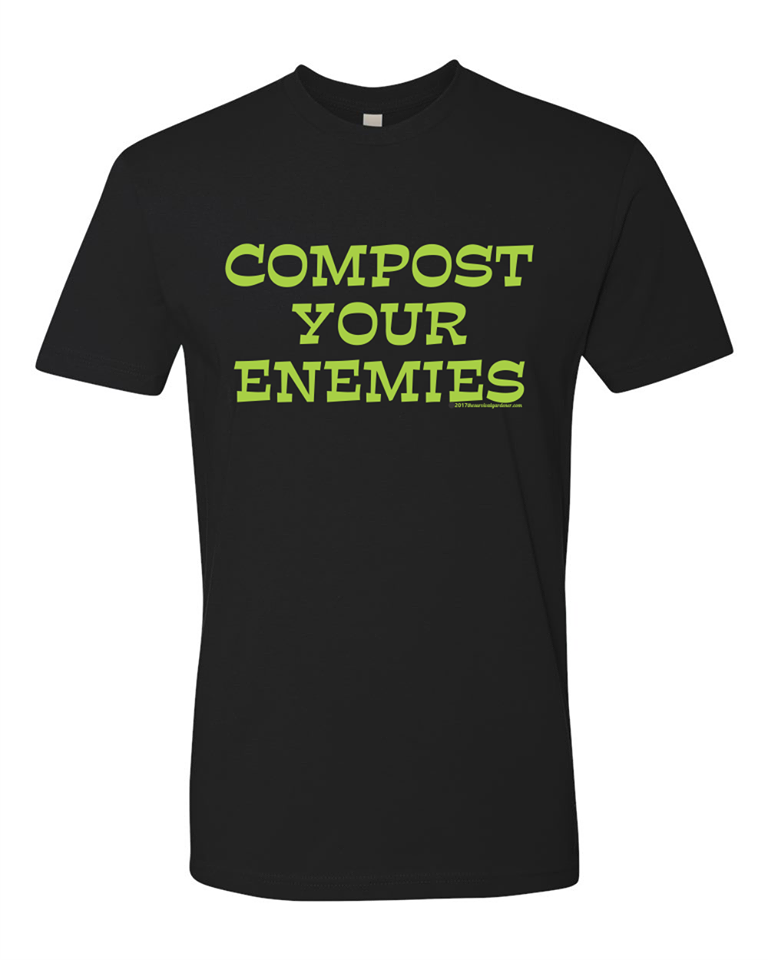#dtg - Compost Your Enemies - Cheery Christmas Black