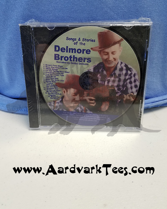 Delmore Brothers CD - Elkmont - Songs & Stories of the Delmores - Aardvark Tees - Tees that Please