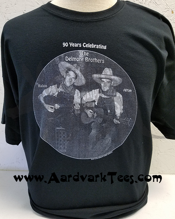 Delmore Brothers Tee - 90 Years Celebrating Rabon & Alton - Aardvark Tees - Tees that Please