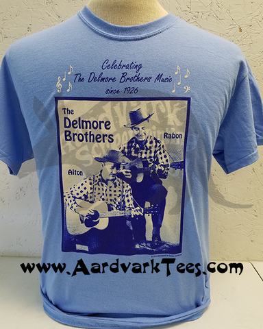 Delmore Brothers Tee - Celebrating Since 1926 - Aardvark Tees
