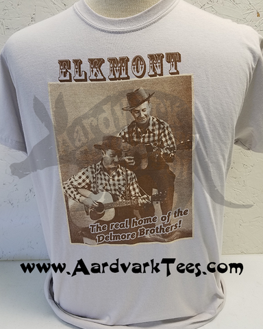 Delmore Brothers Tee - Elkmont - The Real Home of the Delmores - Aardvark Tees