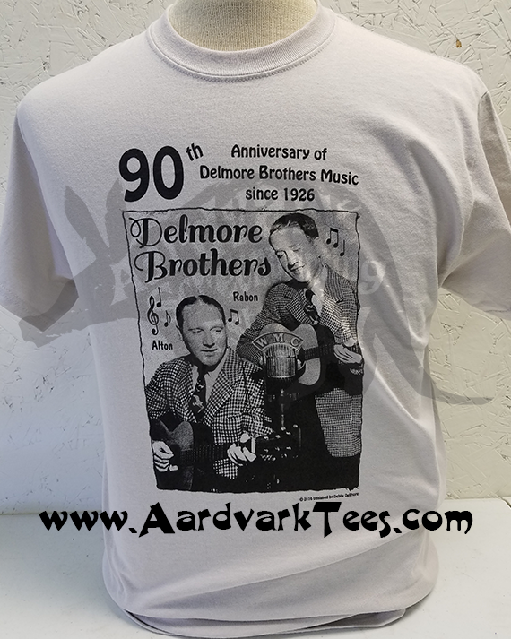 Delmore Brothers Tee - Elkmont - 90th Anniversary of The Delmore Brothers Music - Aardvark Tees - Tees that Please
