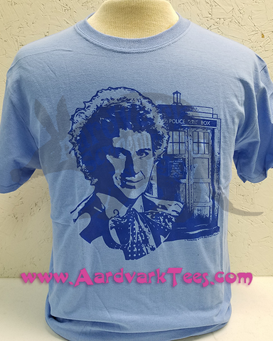 6th Doctor Colin Baker - Fans of The Doctor Handprinted Tee - T-shirts - Aardvark Tees