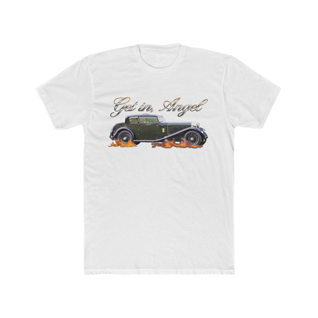 Get In, Angel - Good Omens Inspired Tee - Ineffable Husbands T-Shirt - Flaming Bentley