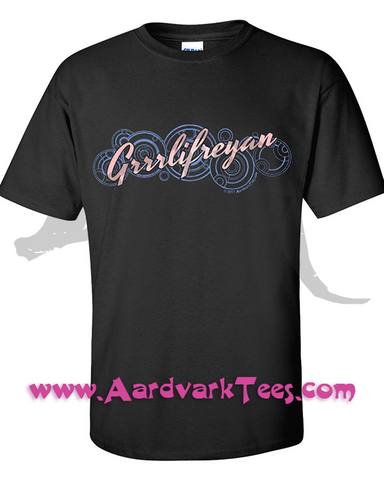 Grrlifreyan - Doctor Who Fan Tee - T-shirts - Aardvark Tees