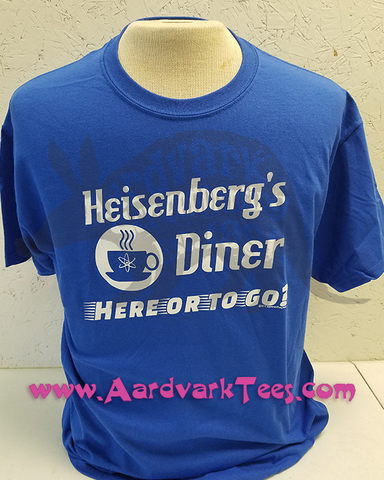 Science Humor Tee - Heisenberg's Diner - Aardvark Tees - Tees that Please
