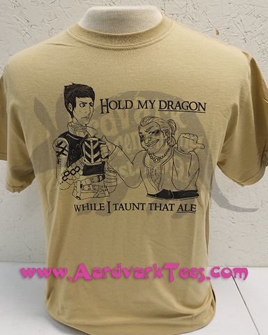 Hold My Dragon While I Taunt That Ale - Dragon Age Inquisition Fan Tee - T-shirts - Aardvark Tees