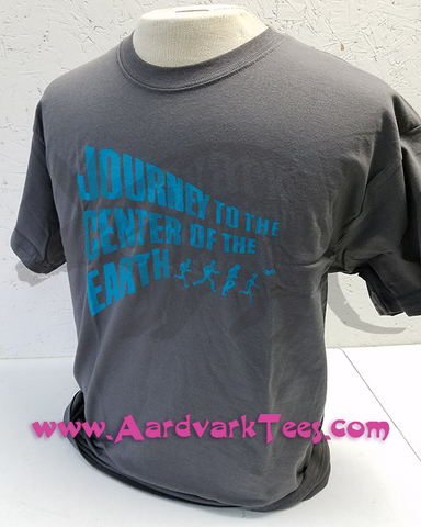 Journey to the Center of the Earth Cartoon Tee - T-shirts - Aardvark Tees