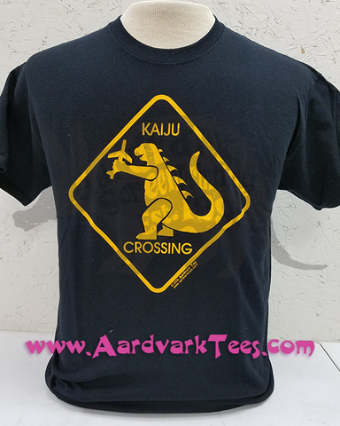 Kaiju Crossing Sign - Aardvark Tees - Tees that Please