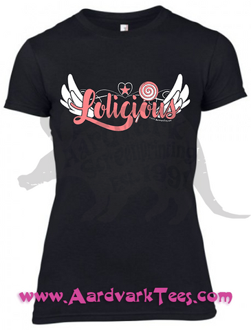 Lolicious - Cute Loli Candy Tee - Aardvark Tees - Tees that Please