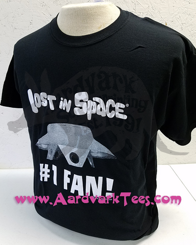 Number One Lost in Space Fan - Classic Sci-Fi Parody Tee - Aardvark Tees - Tees that Please