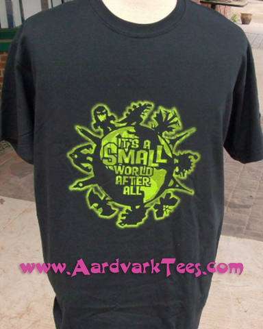 "Giant Monster ""It's a Small World After All"" - Aardvark Tees - Tees that Please"