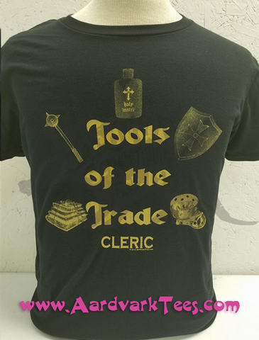 Tools of the Trade - Cleric - Tabletop RPG Fan Tee - Aardvark Tees - Tees that Please