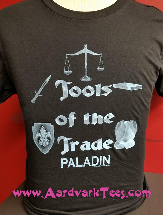 Tools of the Trade - Paladin - Tabletop RPG Fan Tee - Aardvark Tees - Tees that Please