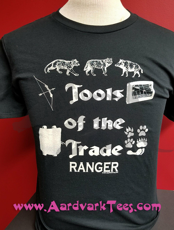 Tools of the Trade - Ranger - Tabletop RPG Fan Tee - Aardvark Tees - Tees that Please