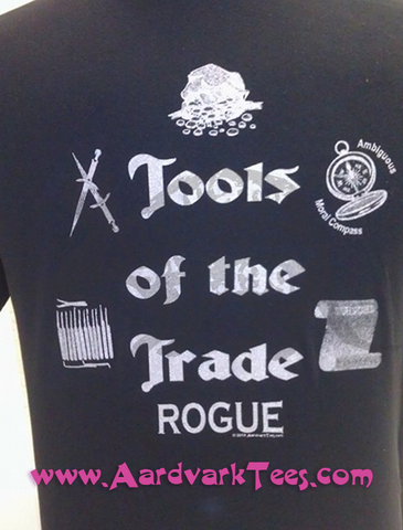 Tools of the Trade - Rogue - Tabletop RPG Fan Tee - Aardvark Tees - Tees that Please