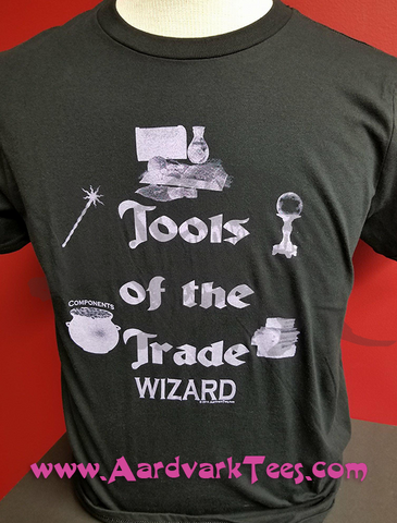 Tools of the Trade - Wizard - Tabletop RPG Fan Tee - Aardvark Tees - Tees that Please
