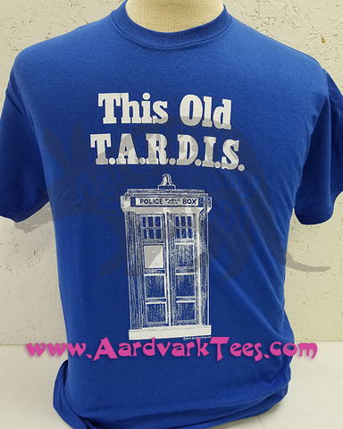 This Old T.A.R.D.I.S. - Whovian, Fans of the Doctor hand-printed t-shirt