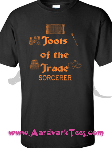 Tools of the Trade - Sorcerer - Tabletop RPG Fan Tee - Aardvark Tees