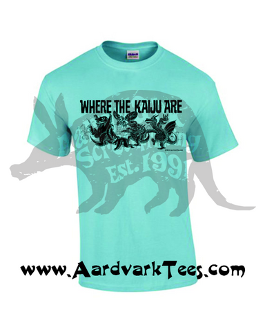 Where the Kaiju Are - Giant Monster Fan Tee - Aardvark Tees - Tees that Please