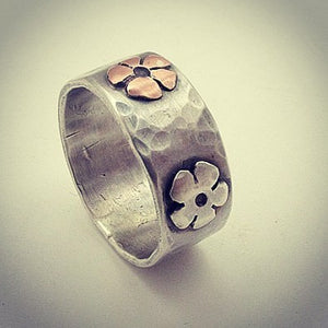 Sterling Silver Daisy Flower Ring - Red Ted's Jewellery