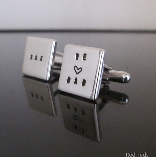 Silver cufflinks - Red Ted's Jewellery