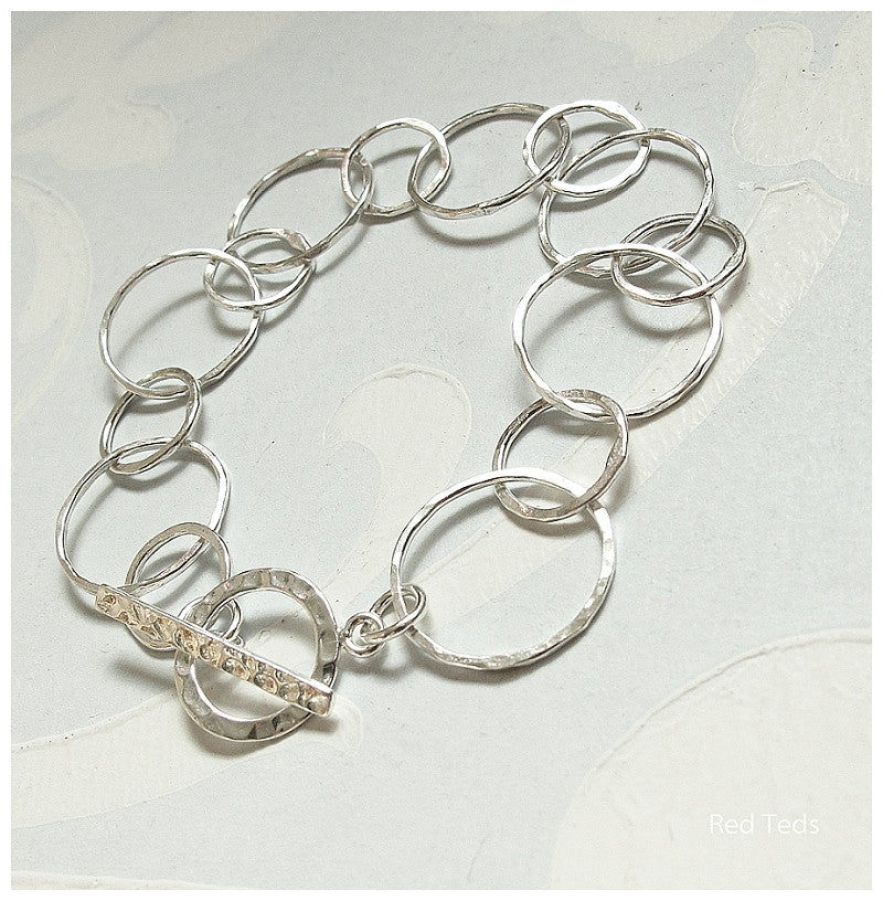 Link silver bracelet - Red Ted's Jewellery
