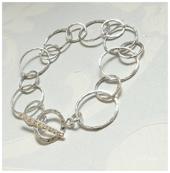Sterling silver link bracelet - Red Ted's Jewellery