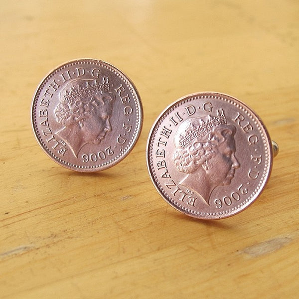 Vintage coin cuff links - Red Ted's Jewellery