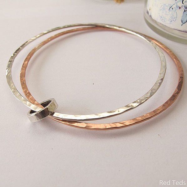 Mixed metal double bangle - Red Ted's Jewellery