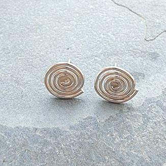 silver coil earrings - Red Ted's Jewellery