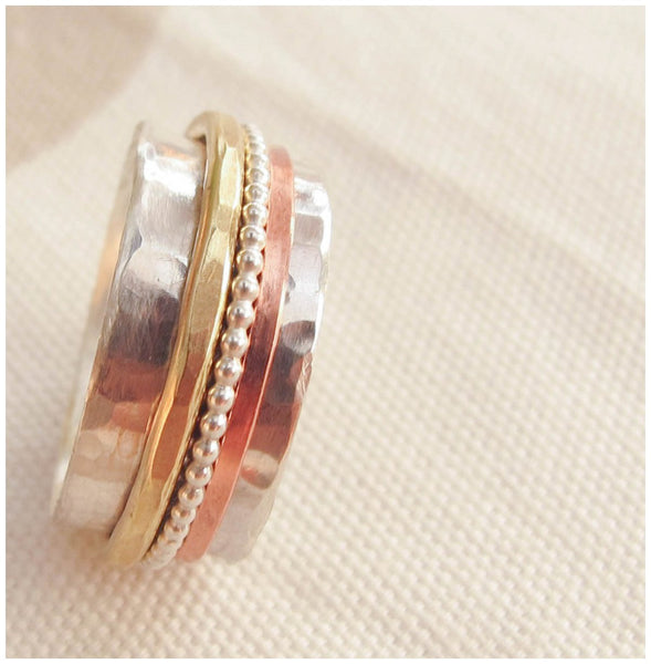 Sterling Silver spinner ring - Red Ted's Jewellery