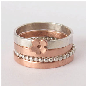 Silver stacking rings - Red Ted's Jewellery