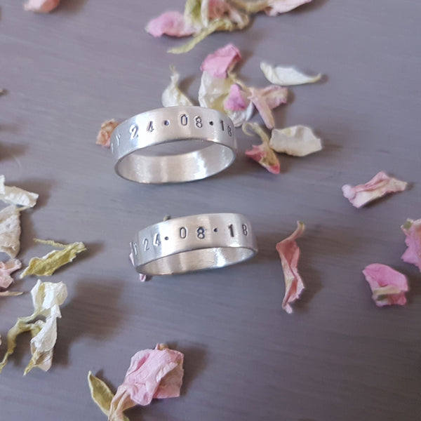 personalised silver wedding rings - Red Ted's Jewellery