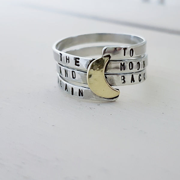 Sterling Silver To The Moon & Back Again Ring - Red Ted's Jewellery